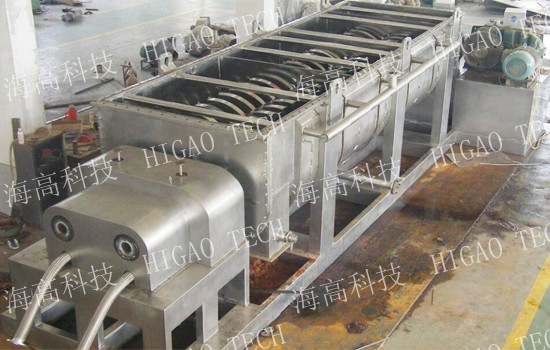 continuous hollow blade paddle dryer